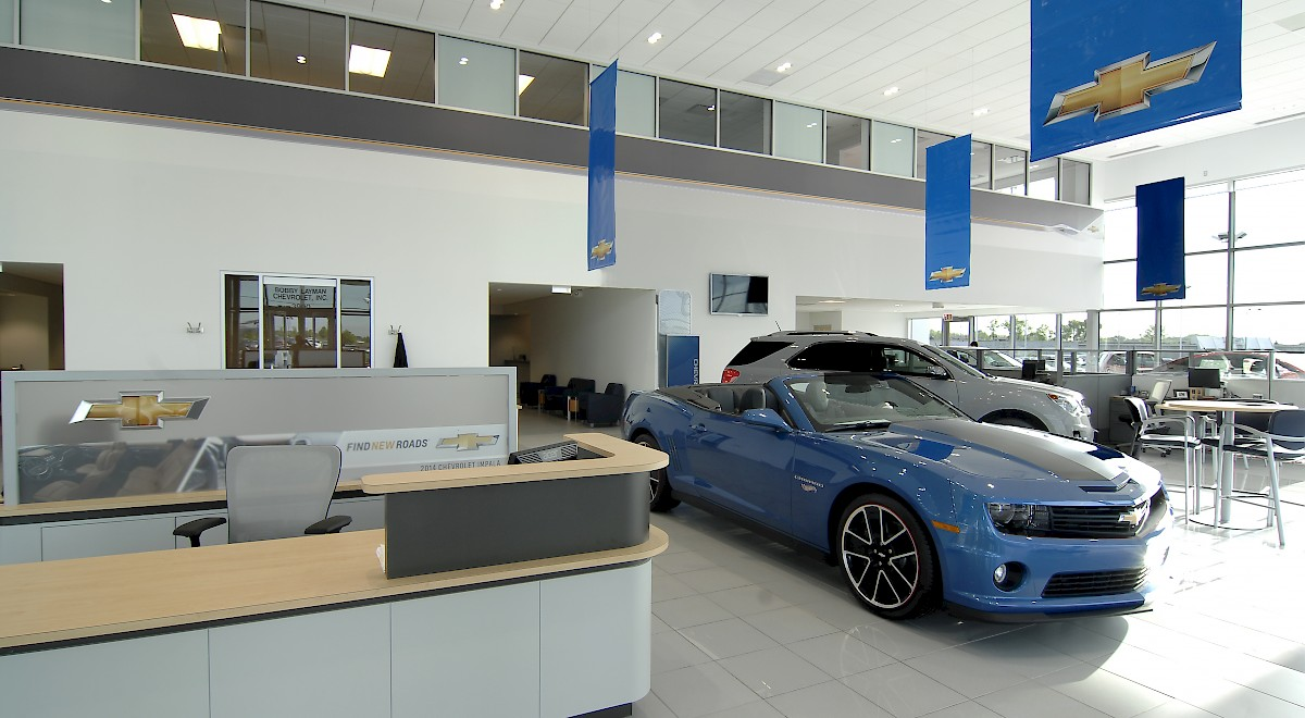 Bobby Layman Chevrolet auto dealership construction finished picture 7