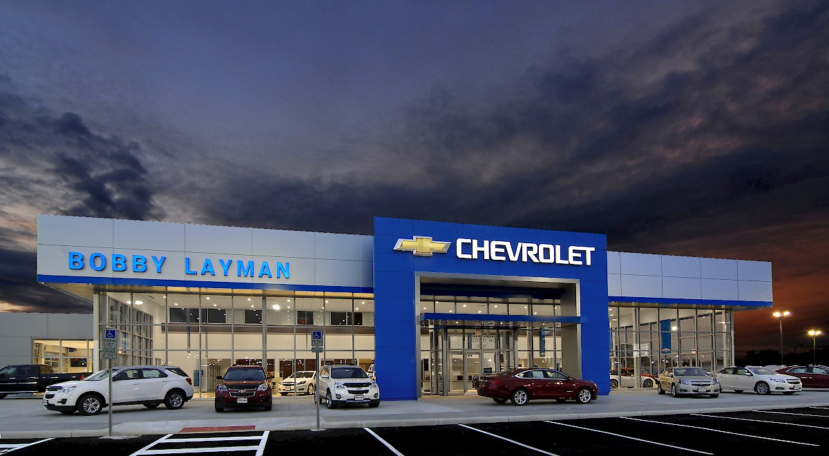 Bobby Layman Chevrolet auto dealership construction finished picture 14