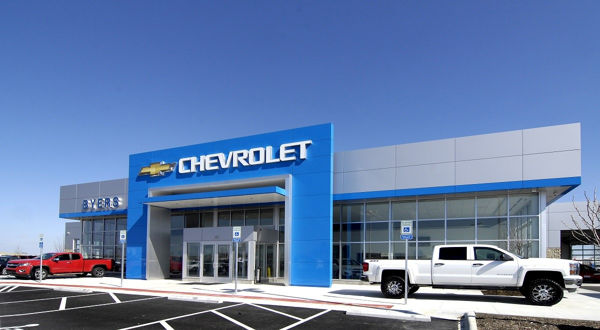 Byers Chevrolet auto dealership construction finished picture 2