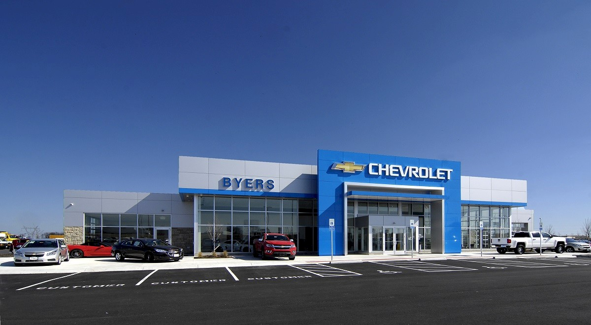 Byers Chevrolet auto dealership construction finished picture 1