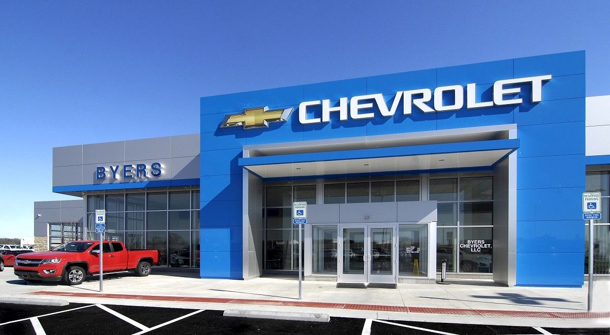 Byers Chevrolet auto dealership construction finished picture 3
