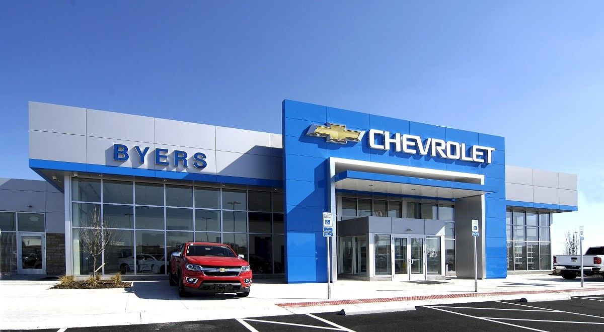 Byers Chevrolet auto dealership construction finished picture 17