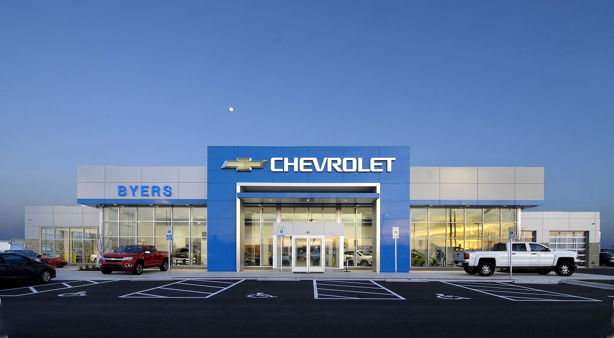 Byers Chevrolet auto dealership construction finished picture 14