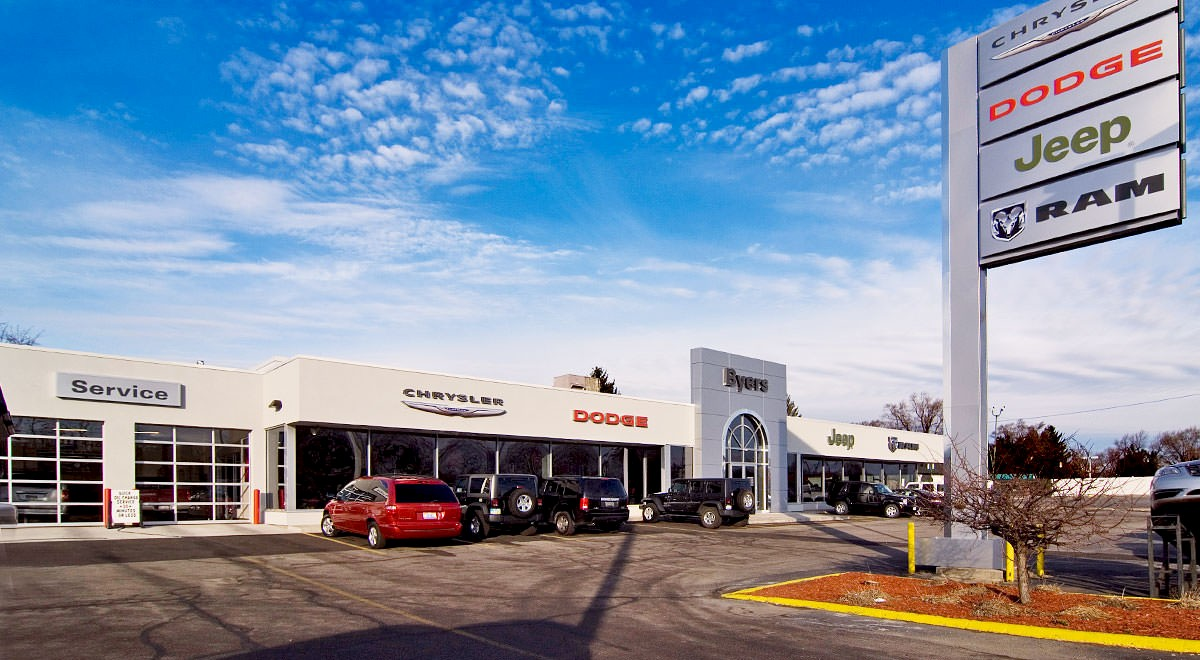 Byers Chrysler Jeep Dodge auto dealership construction finished picture 2