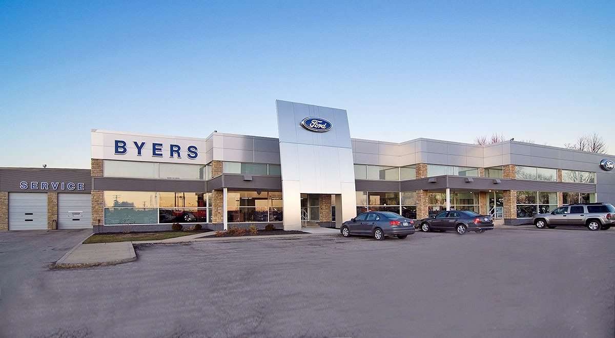 Byers Ford auto dealership construction finished picture 1
