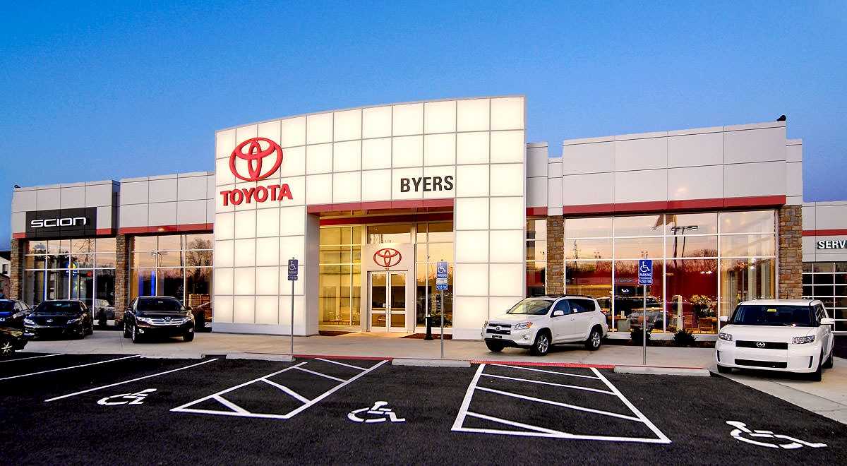 Byers Toyota auto dealership construction finished picture 1