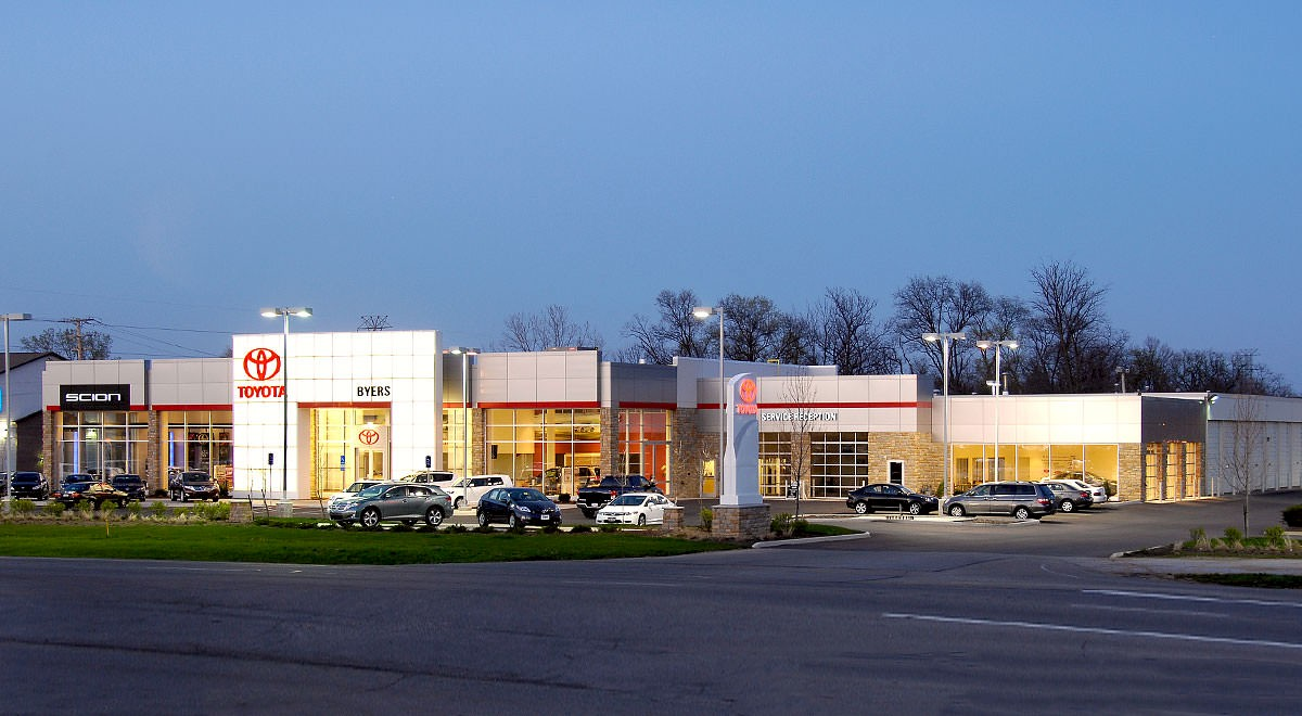 Byers Toyota auto dealership construction finished picture 2