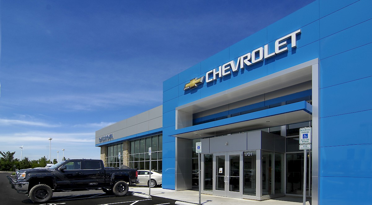 Chesrown Chevrolet Buick GMC auto dealership construction finished picture 20