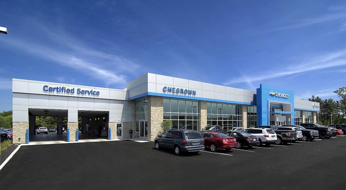 Chesrown Chevrolet Buick GMC auto dealership construction finished picture 21