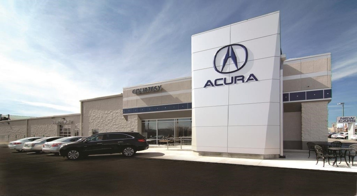 Courtesy Acura auto dealership construction finished picture 1
