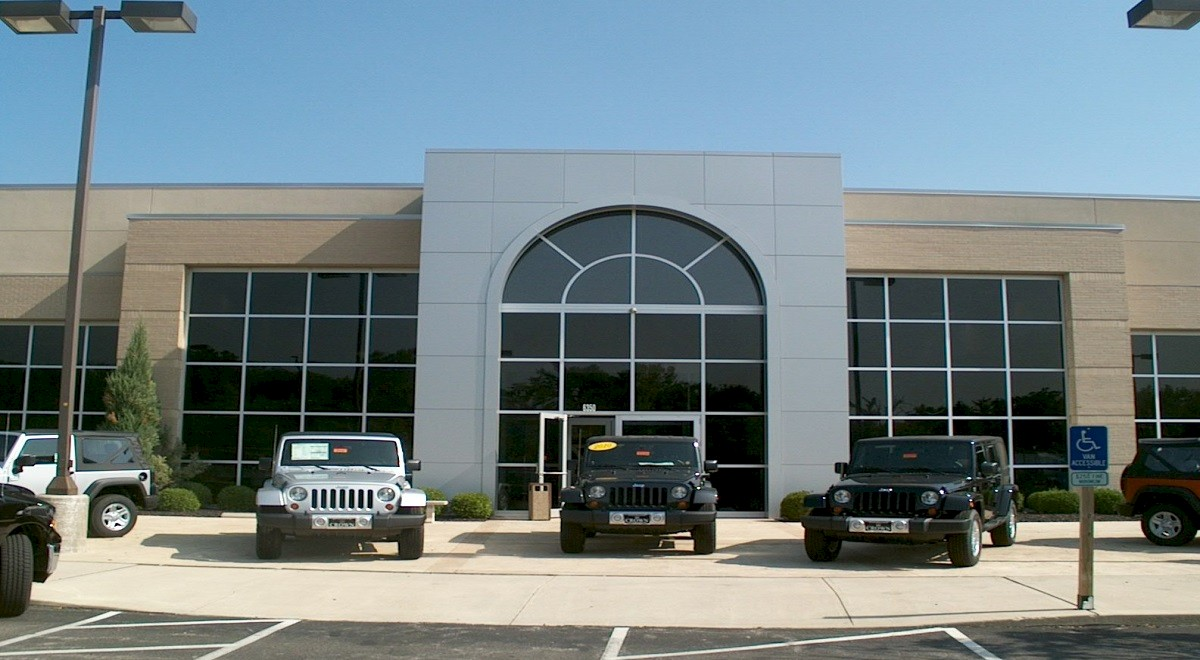 Crown Chrysler Jeep Dodge auto dealership construction finished picture