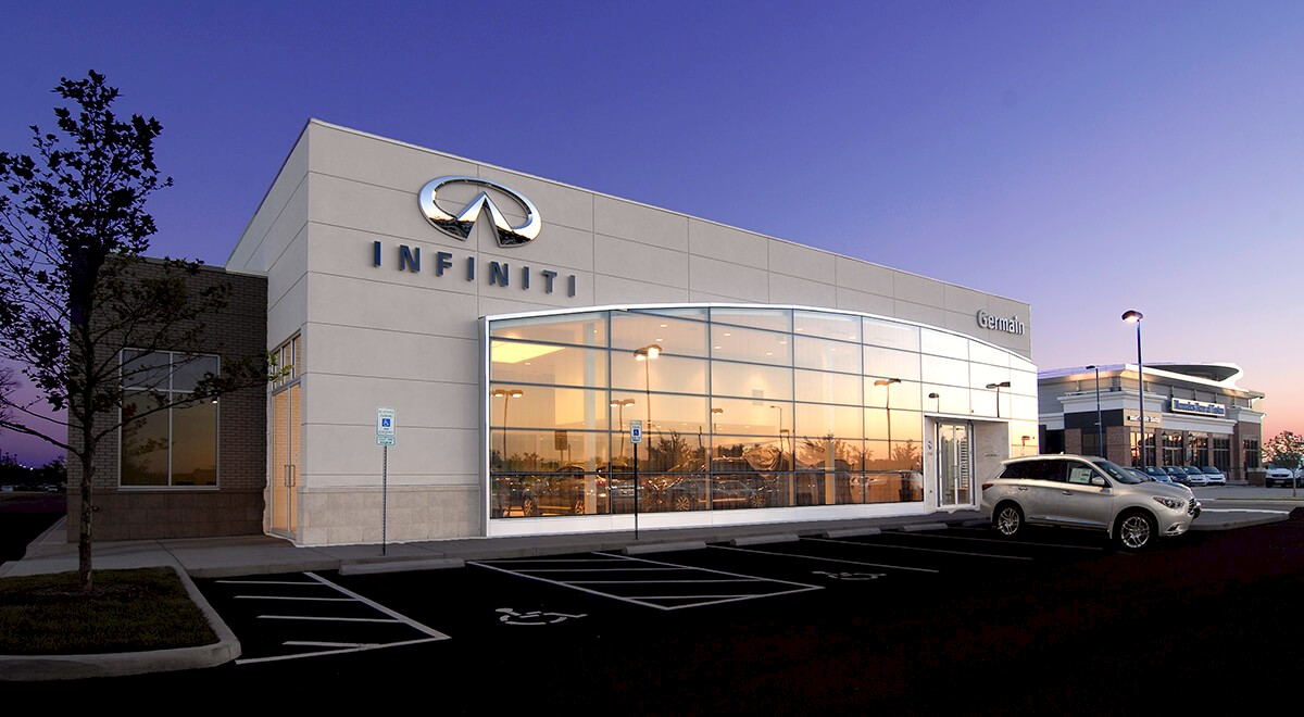 Germain Infiniti of Easton auto dealership construction finished picture 1