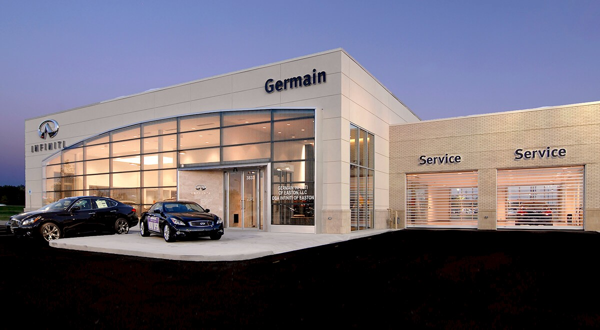 Germain Infiniti of Easton auto dealership construction finished picture 7