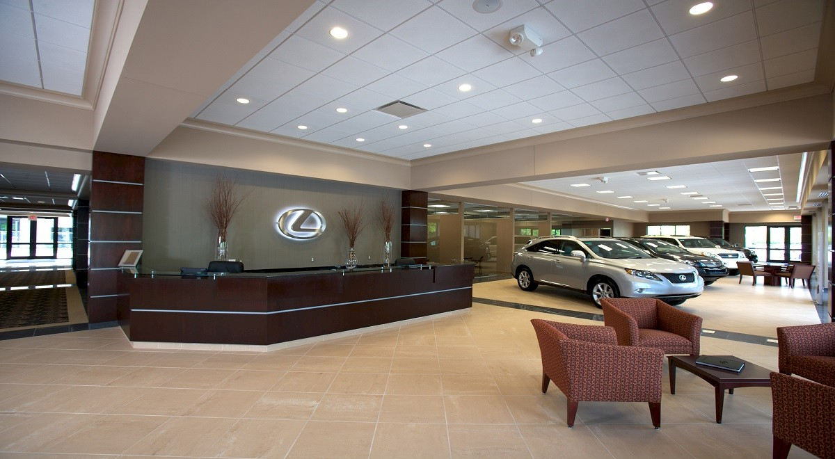 Germain Lexus Dublin New Car Sales auto dealership construction finished picture 2