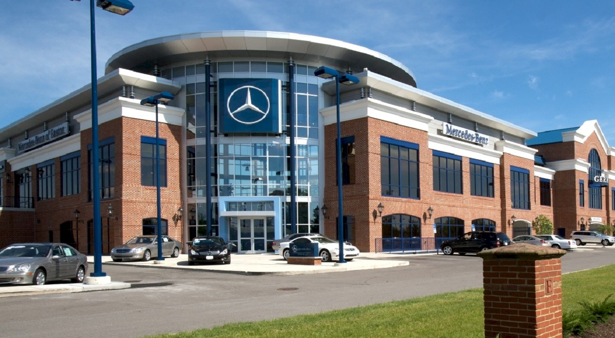 Germain Mercedes auto dealership construction finished picture 4