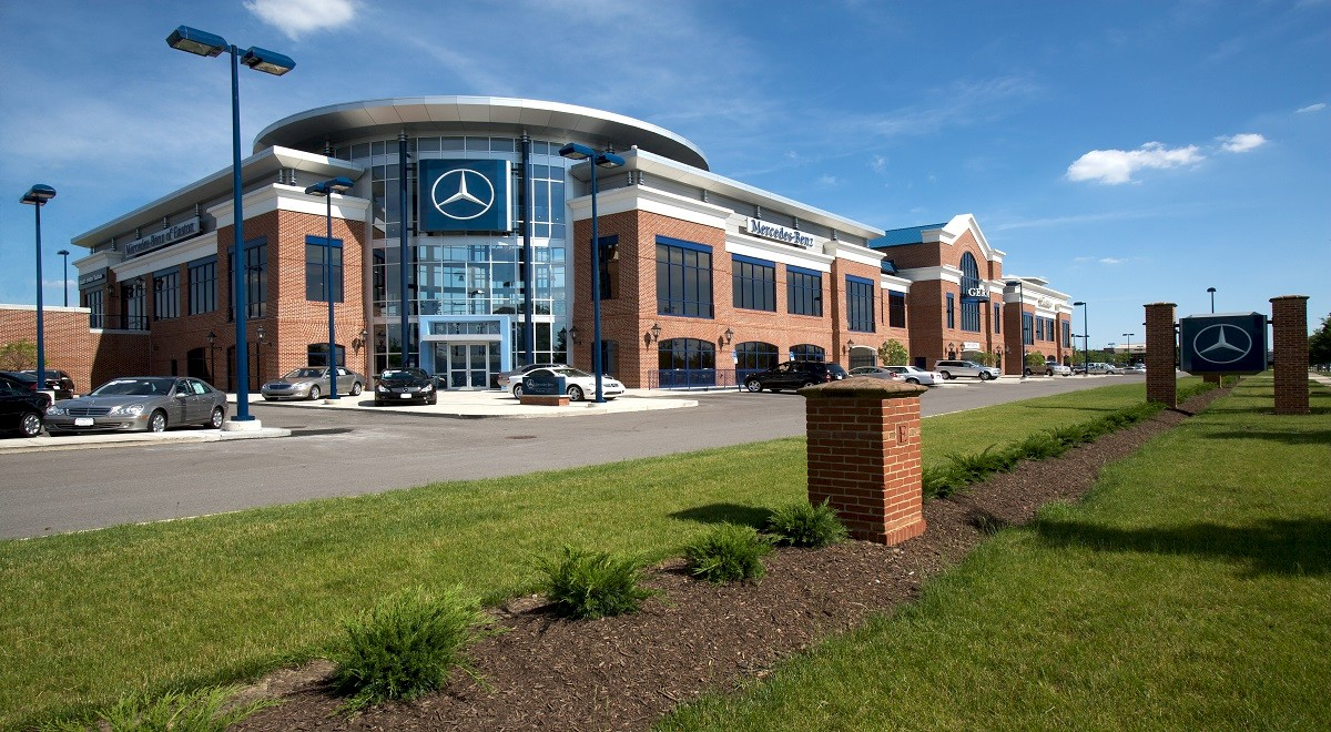 Germain Mercedes auto dealership construction finished picture 3