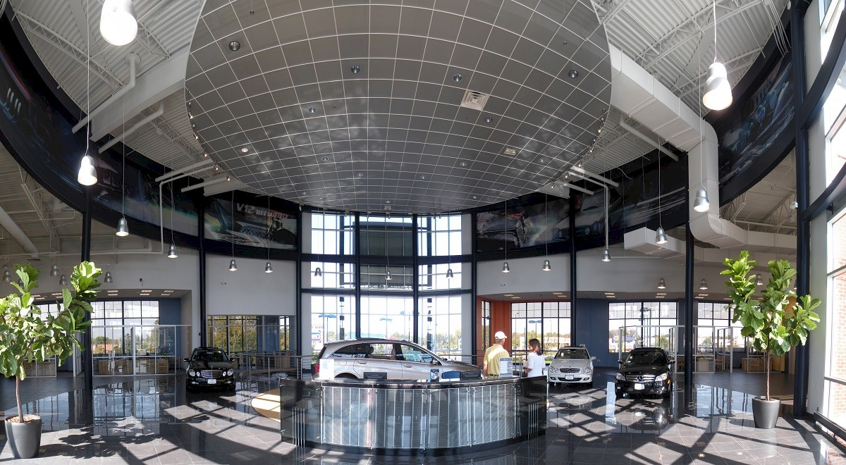Germain Mercedes auto dealership construction finished picture 5