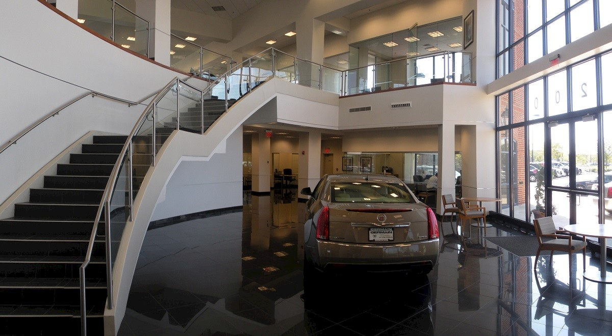 Germain Mercedes auto dealership construction finished picture 7