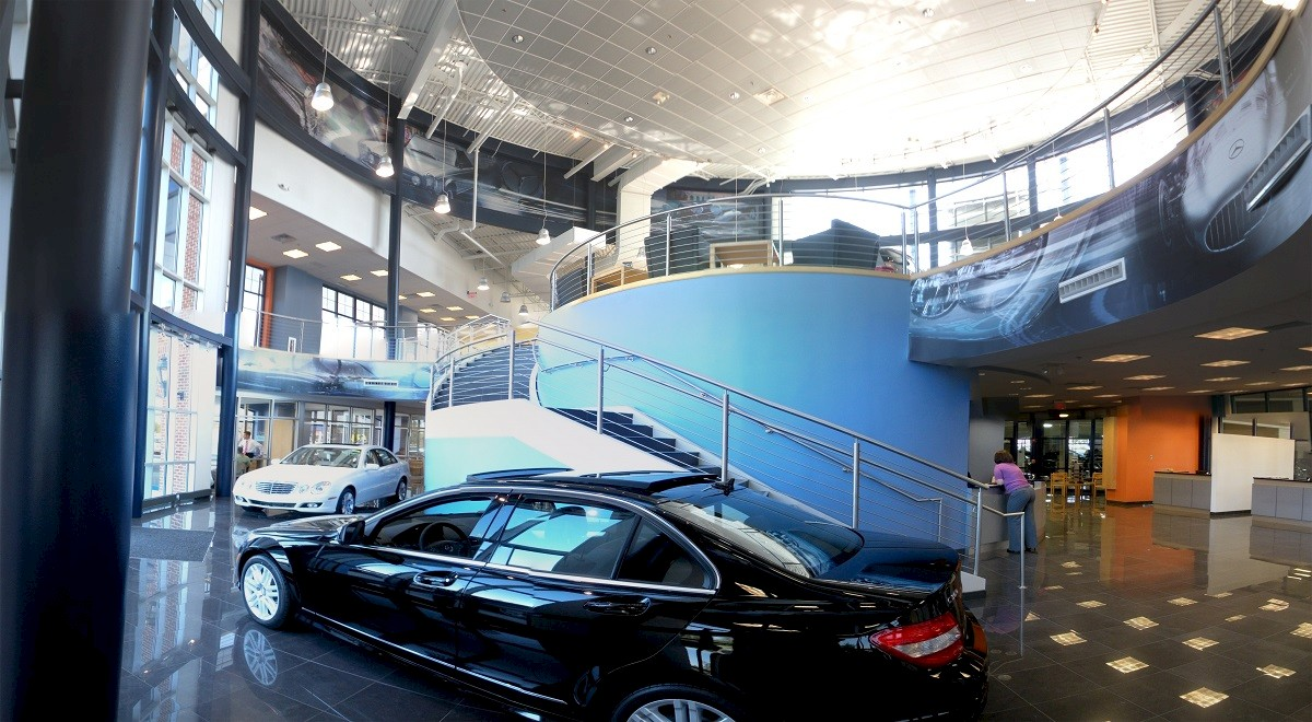Germain Mercedes auto dealership construction finished picture 6