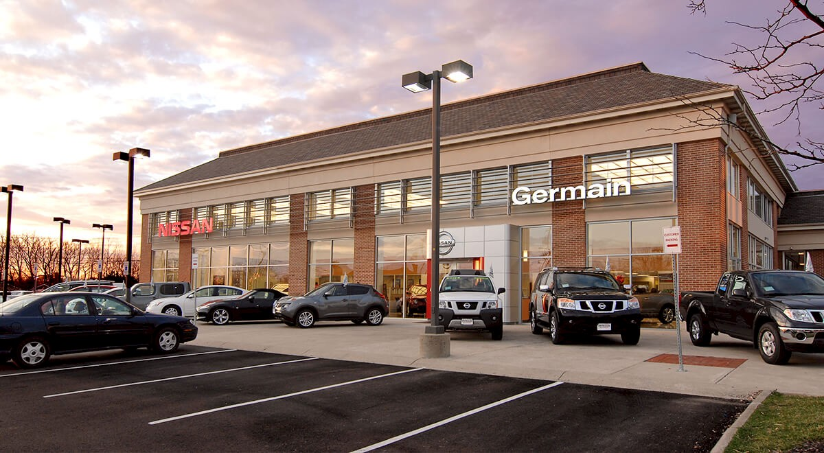 Germain Nissan auto dealership construction finished picture 2