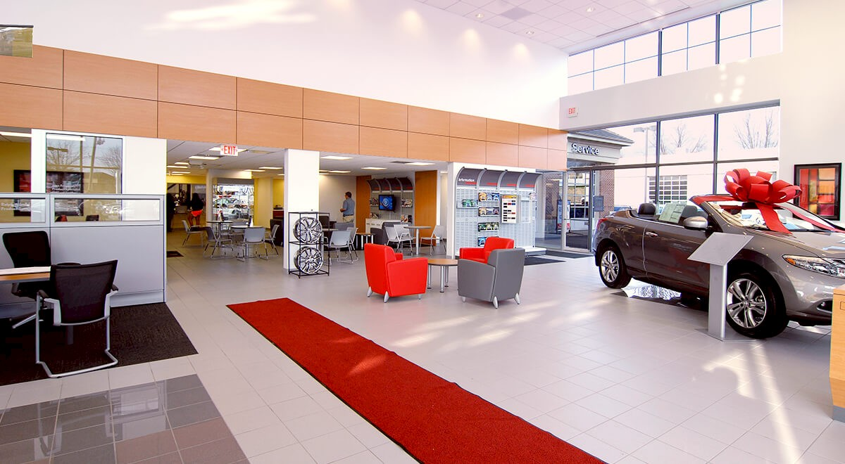 Germain Nissan auto dealership construction finished picture 4