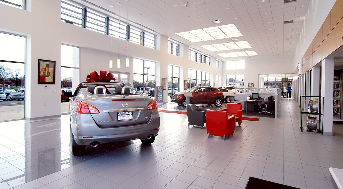 Germain Nissan auto dealership construction finished picture 5