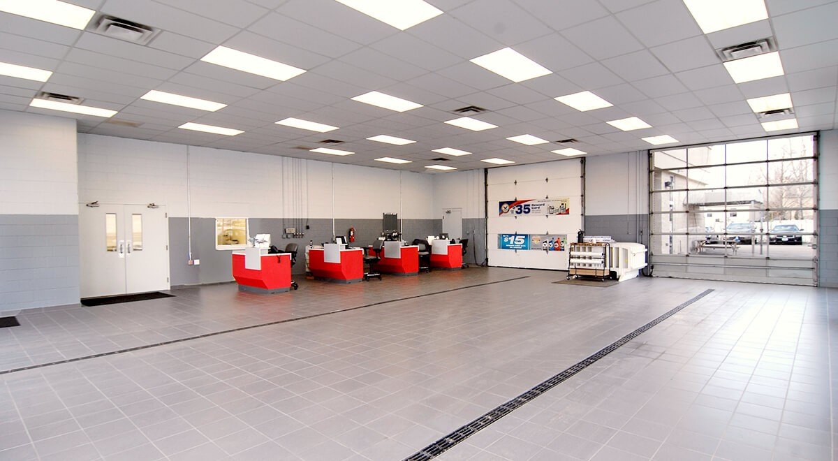 Germain Nissan auto dealership construction finished picture 9