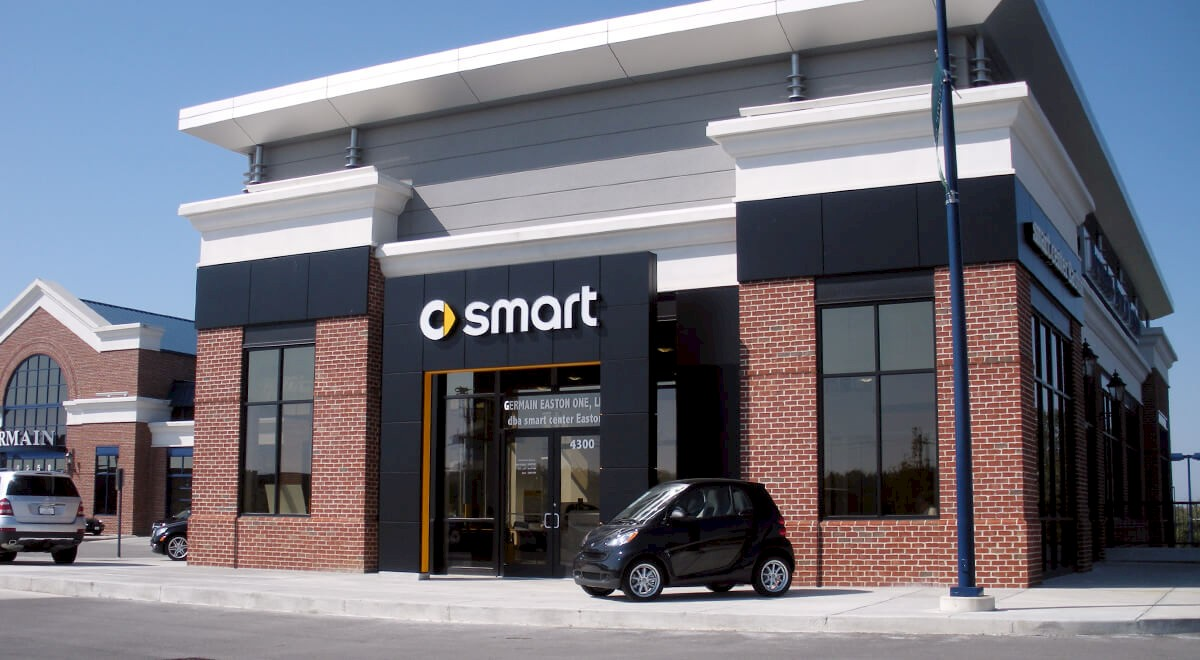 Germain Smart Car auto dealership construction finished picture 1