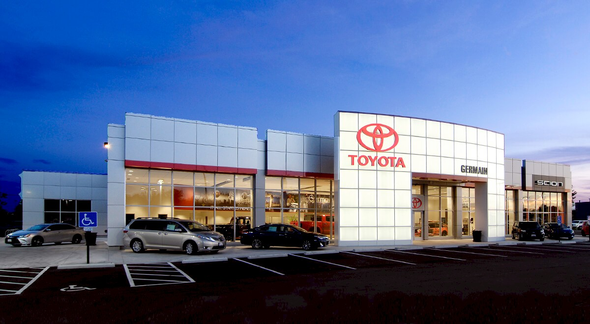 Germain Toyota of Columbus auto dealership construction finished picture 2