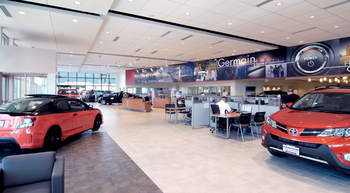Germain Toyota of Columbus auto dealership construction finished picture 8