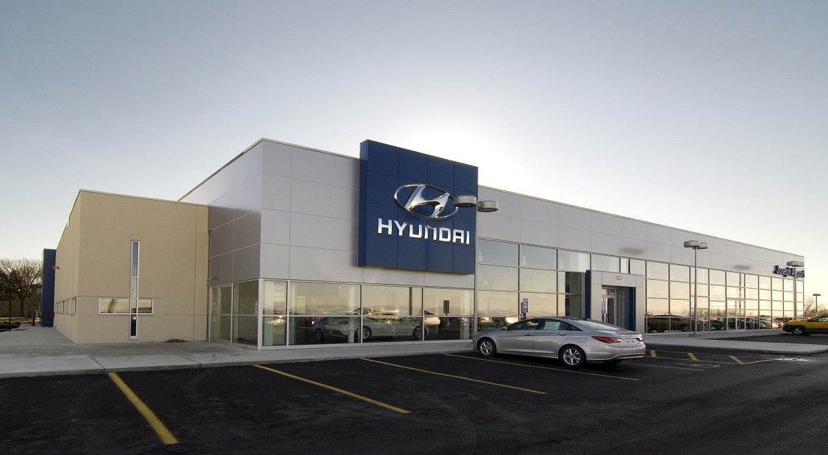 Joseph Airport Hyundai auto dealership construction finished picture 1