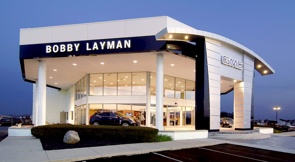 Layman Cadillac GMC auto dealership construction finished picture 2