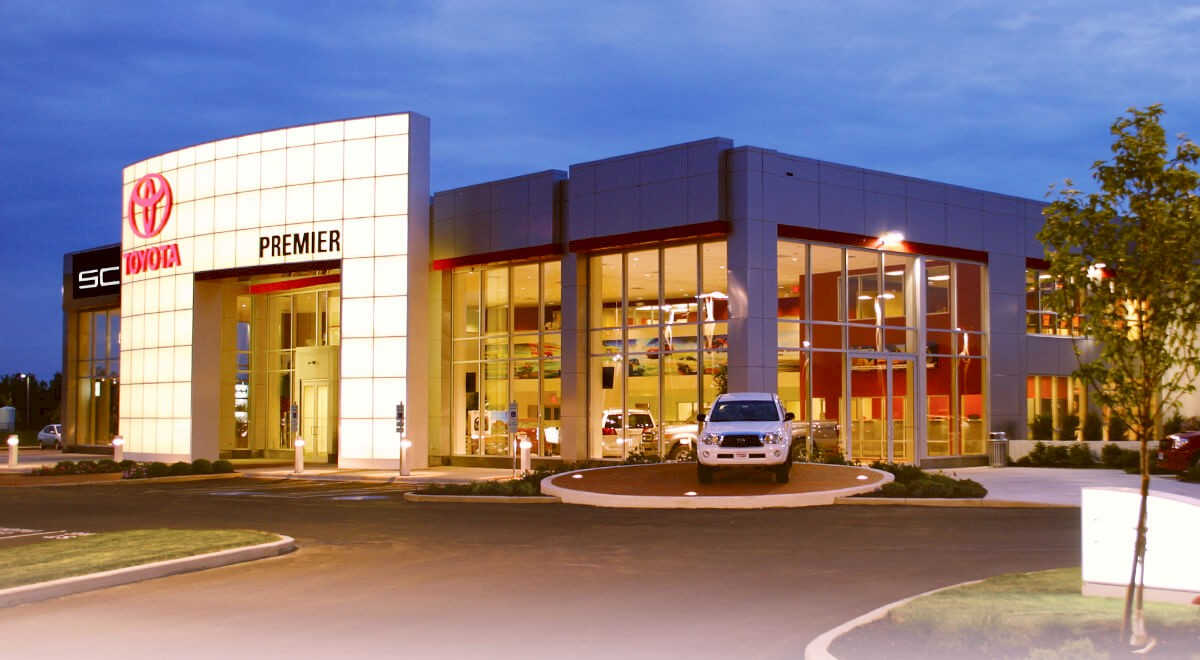 Premier Toyota auto dealership construction finished picture 1