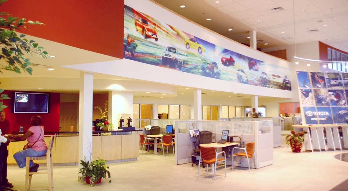 Premier Toyota auto dealership construction finished picture 3