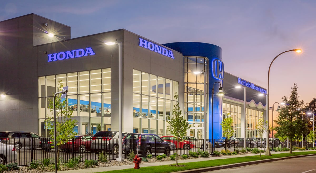 Richfield Bloomington Honda auto dealership construction finished picture 2