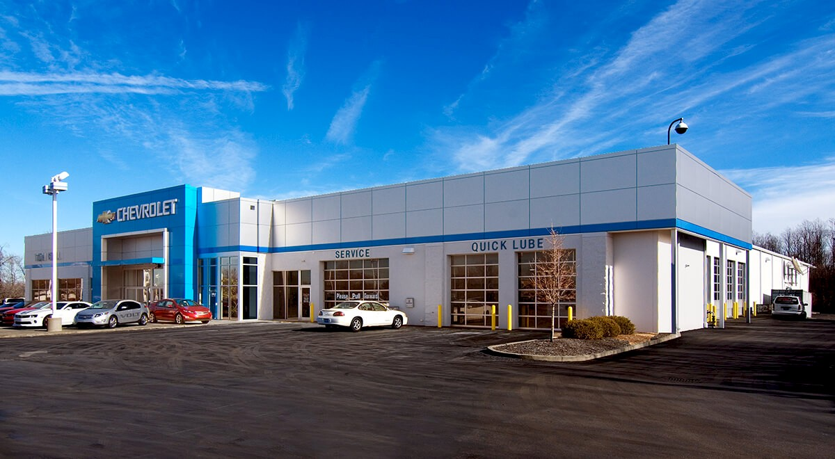 Tom Gill Chevrolet auto dealership construction finished picture 2