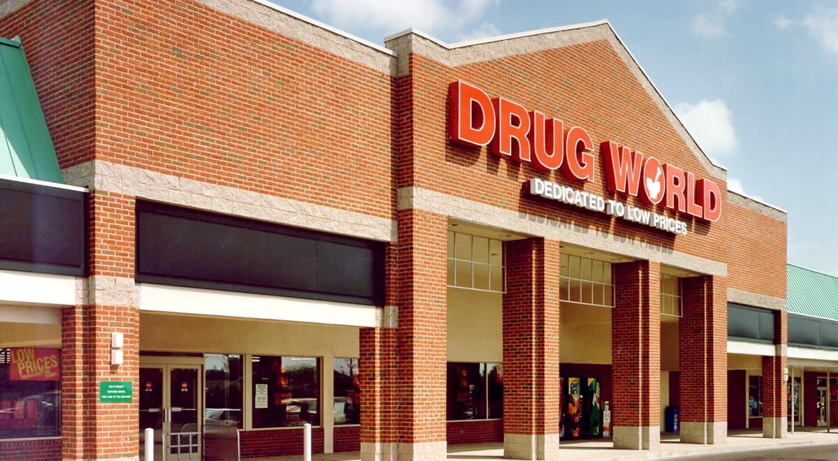 Drug World Retail and Restaurants commercial construction finished picture