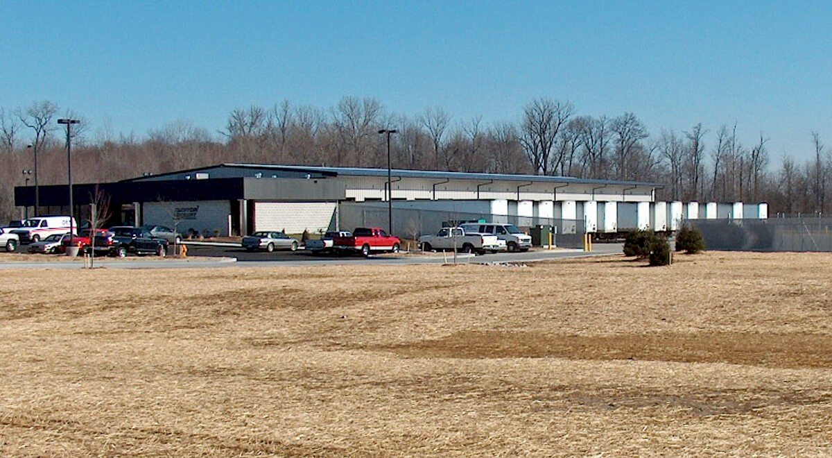 Dayton Freight – Evansville Transportation commercial construction finished picture