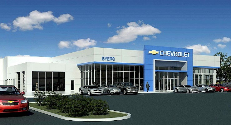 Byers Chevrolet and Renier Construction Break Ground on New Dealership