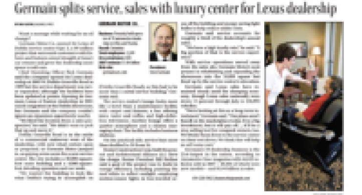 Germain Splits Service, Sales With Luxury Center For Lexus Dealer