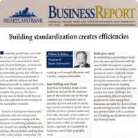 Building Standardization Creates Efficiencies