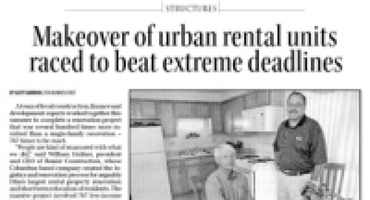 Makeover of Urban Rental Units Raced to Beat Extreme Deadlines