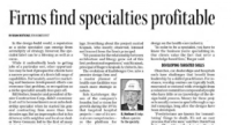 Firms Find Specialties Profitable