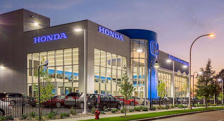 Time Lapse Construction of Richfield Bloomington Honda