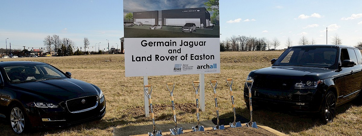 Renier breaks ground at Germain Jaguar Land Rover dealership. To be one of the state's larger locations at 32,000 square feet and feature a state of the art full sales and service facility