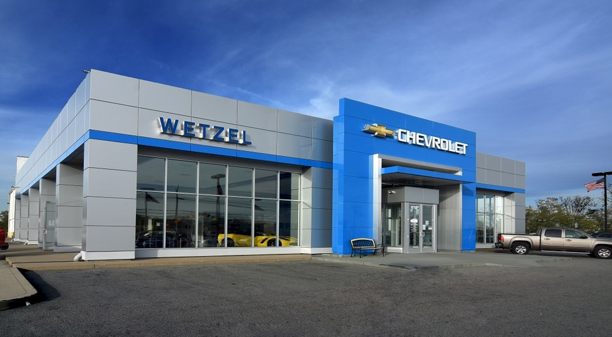 Wetzel Chevrolet auto dealership finished construction picture 6