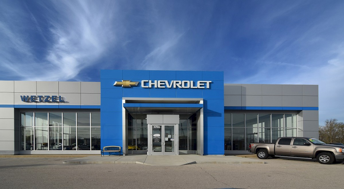 Wetzel Chevrolet auto dealership finished construction picture 2
