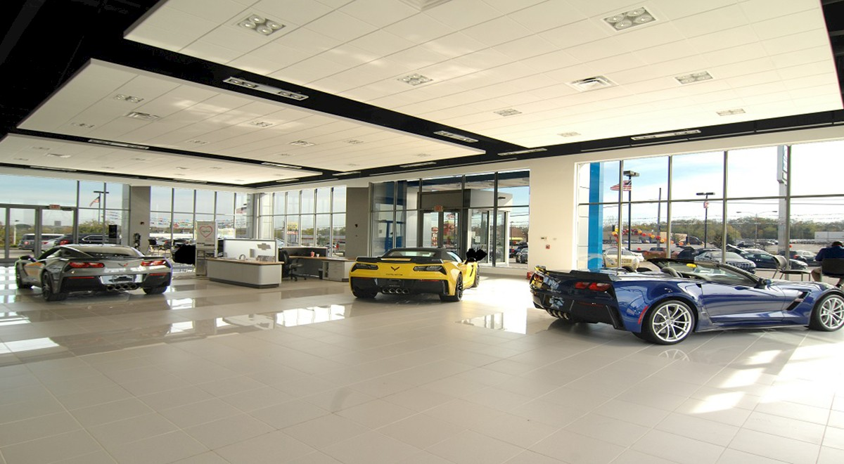 Wetzel Chevrolet auto dealership finished construction picture 7