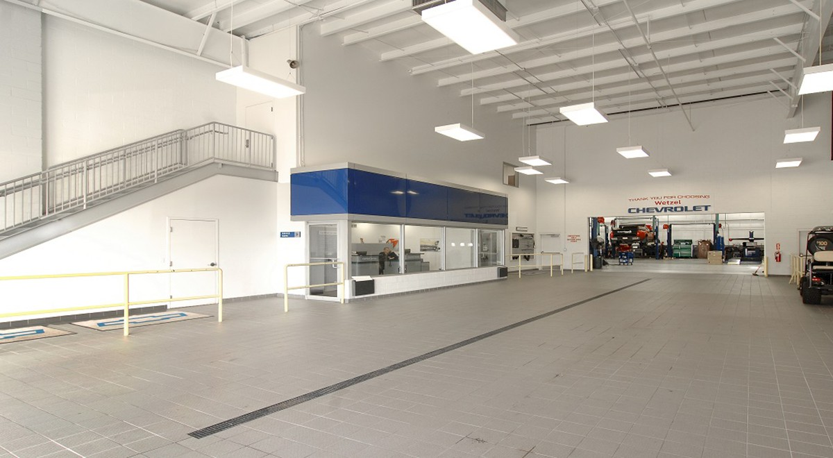 Wetzel Chevrolet auto dealership finished construction picture 8