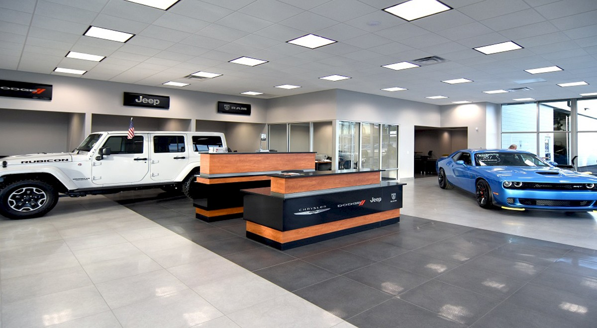 Wetzel Chrysler auto dealership finished construction picture 3